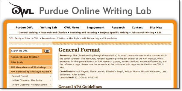 APA 6th Ed. - Citing Sources - LibGuides Home at Los Angeles City ...