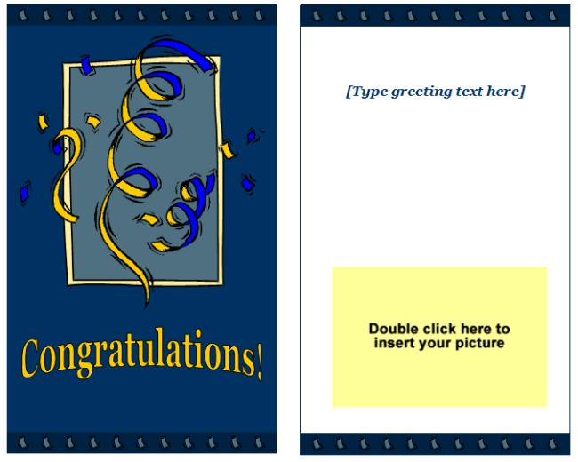 Congratulations Greeting Card Template - Easy Printable