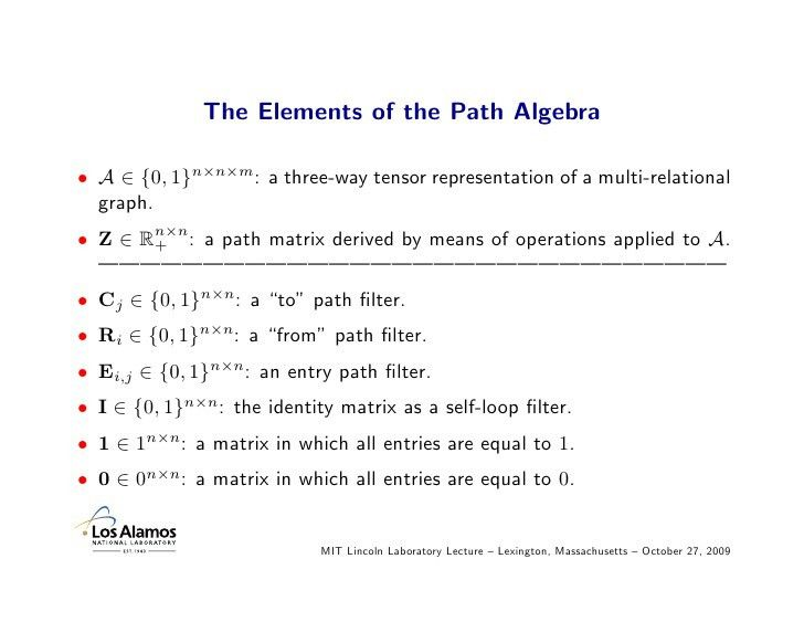 Multi-Relational Graph Structures: From Algebra to Application