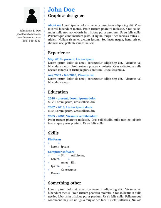 CV or Resume - ShareLaTeX, Online LaTeX Editor