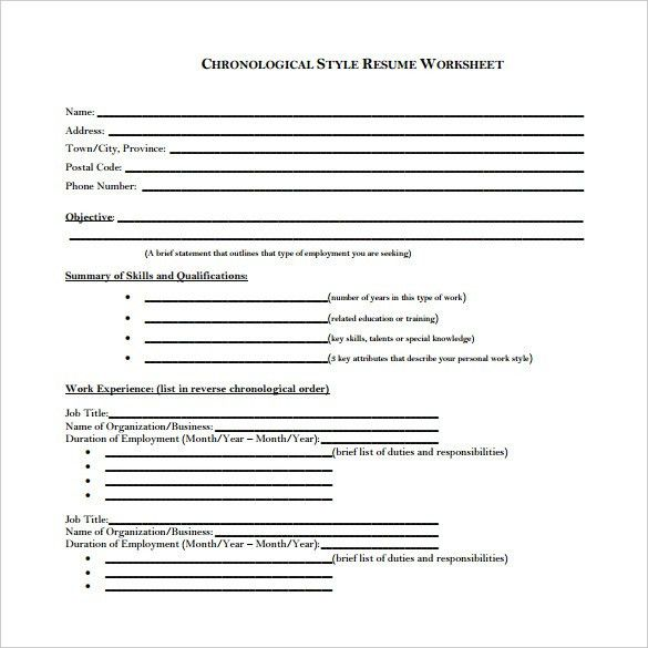 chronological resume format tips resumes 2017 format of chronological resume chronological resume template - Reverse Chronological Resume Template