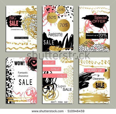 Set Social Media Sale Website Mobile Stock Vector 546730501 ...