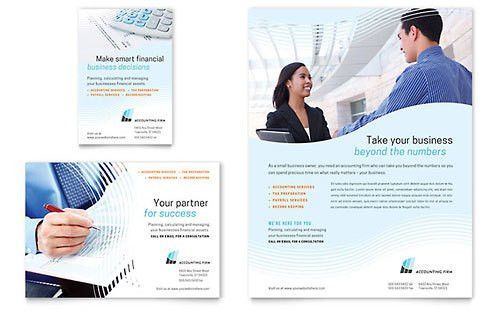 Accounting & Bookkeeping | Print Ad Templates | Financial Services