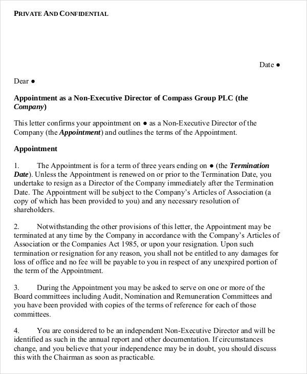 9+ Standard Appointment Letter Templates - Free Sample, Example ...