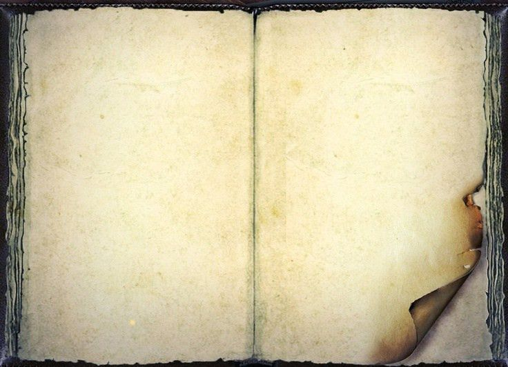 Vintage Open Diary Template 3 | Blogging - Frames, Brushes, Clip ...