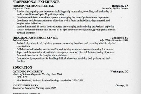 smart idea er nurse resume 8 how to create a nursing resume ...