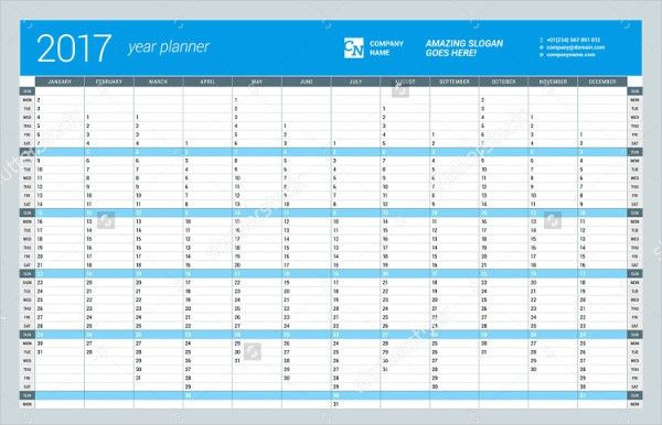 Annual Calendar Template. It 9 Free Marketing Calendar Templates ...
