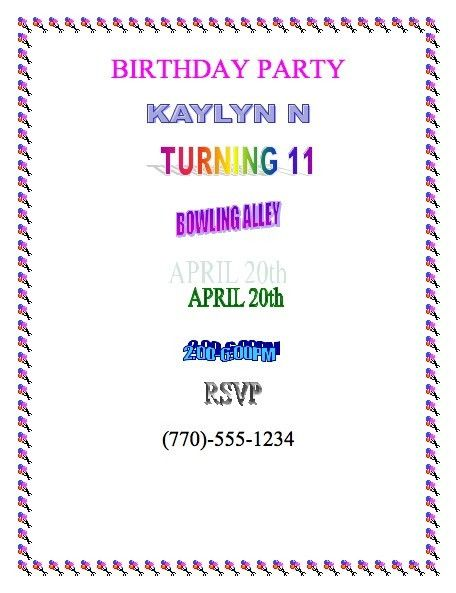 How To Word A Birthday Invitation First Birthday Invitation - Birthday invitation message examples
