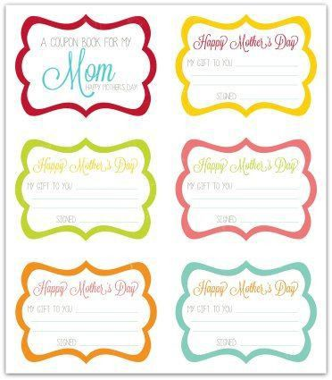 25+ best Mother's day coupons ideas on Pinterest | Free mothers ...
