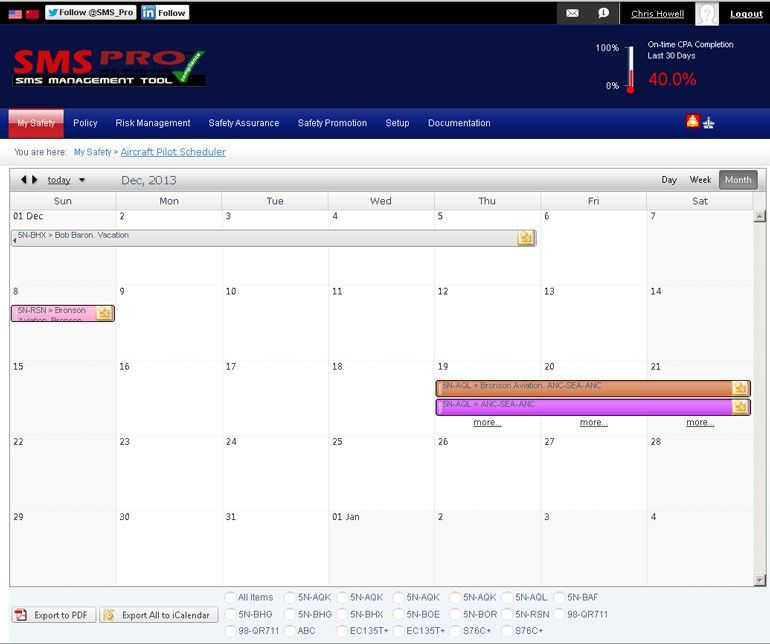Web Based Aircraft-Pilot Scheduling Software
