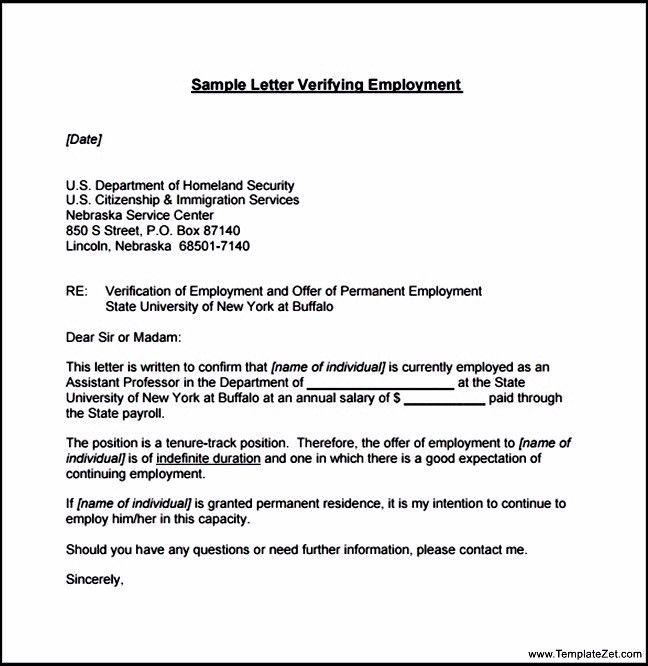 Employment Verification Form | TemplateZet