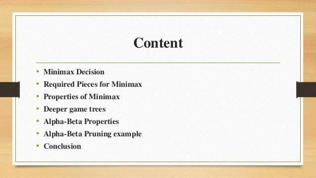 AI-MiniMax Algorithm and Alpha Beta Reduction