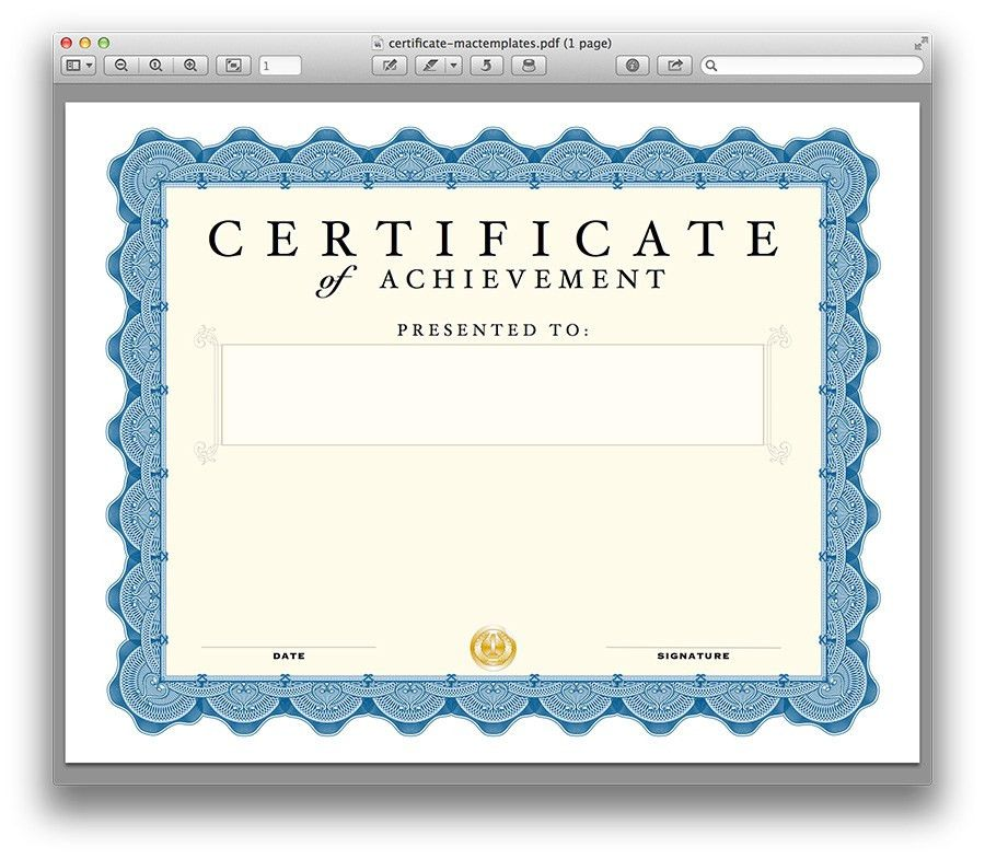 free blank training certificate template