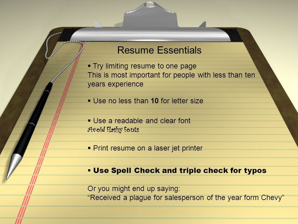 How to Write The Perfect Resume. - ppt download