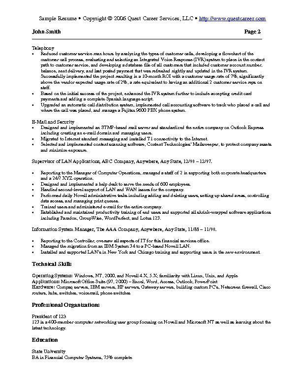 Technical Resume Examples | berathen.Com