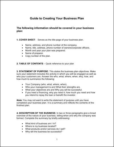 Easy Business Plan Template Free | Free Business Template