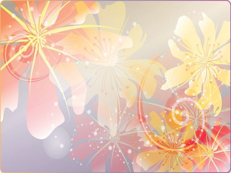 Spring Coming Powerpoint Templates - Flowers, Orange, Red, Silver ...