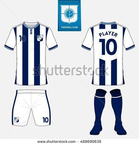 Set Soccer Jersey Football Kit Template Stock Vector 489672784 ...