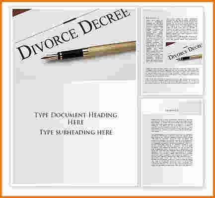 4 divorce decree template | Divorce Document
