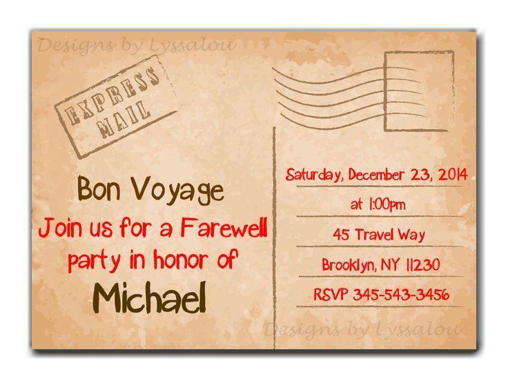 Best 25+ Farewell invitation ideas on Pinterest | Farewell ...