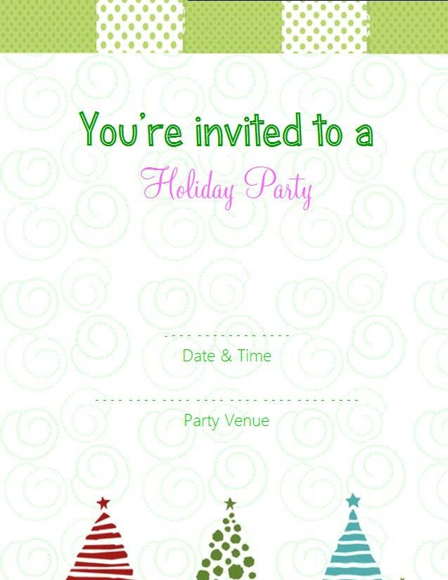 Free Printable Christmas Invitation Templates – Happy Holidays!