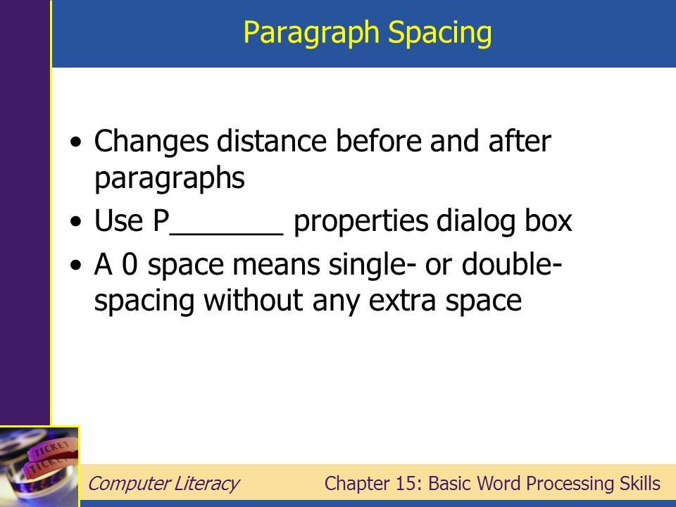 Chapter 15: Basic Word Processing Skills - ppt download