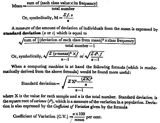 Biometry: Measurement, Standard Deviation and Standard Error