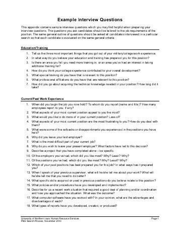 Examples of Behavioral-Based Interview Questions