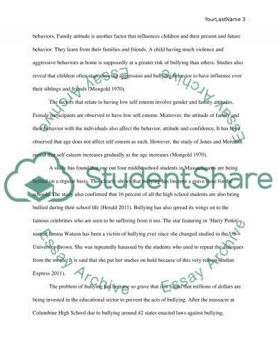 Bullying in schools and colleges Essay Example | Topics and Well ...
