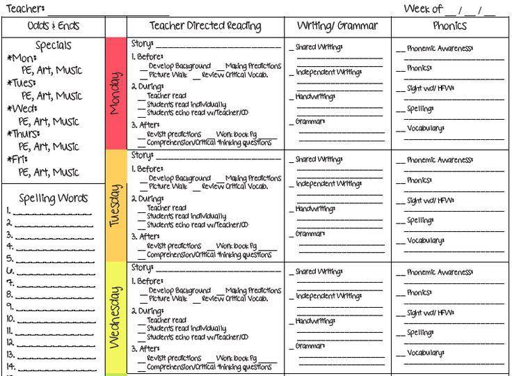 175 best Lesson Plan Templates images on Pinterest | Teacher ...