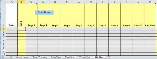 Time Tracking Template in Excel | Collect Data