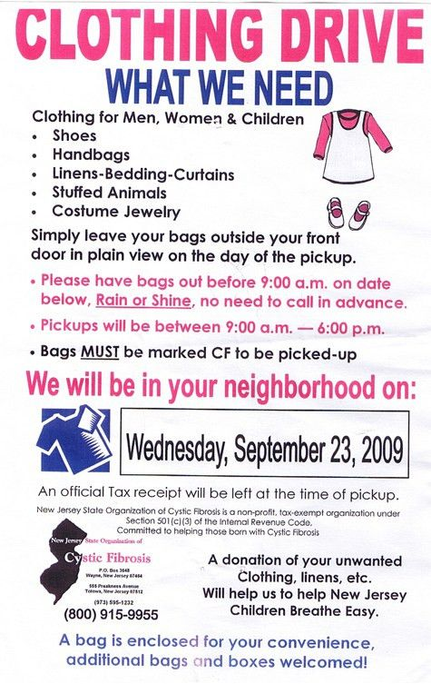 10 Best Images of Clothing Flyer Samples - Clothing Drive Flyer ...