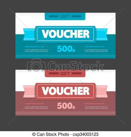 Vector Illustration of Two coupon voucher design. Gift voucher ...