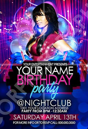ScorpiosGraphx Birthday Party Flyer Template ...