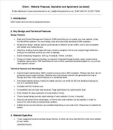 Website Design Proposal - 8+ Free Word, PDF Documents Download ...