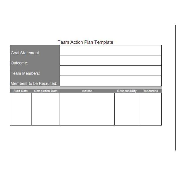 Free Team Action Plan Template: Download and Customize for Your ...
