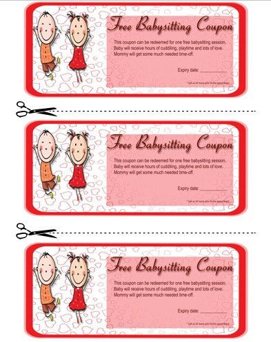 20+ Free Printable Babysitting Coupon Book Templates - Demplates