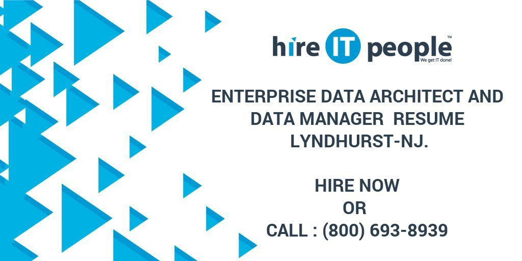 Enterprise Data Architect and Data manager Resume Lyndhurst-NJ ...