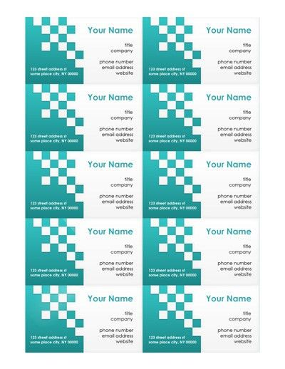 Free Business Card Templates   Make Your Own Business Cards - MS Word