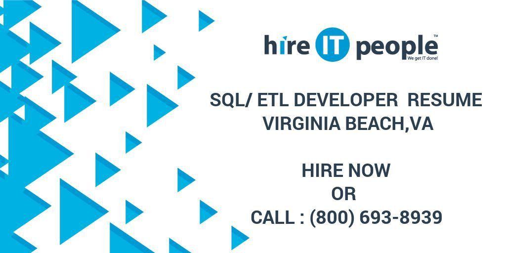 SQL/ETL Developer Resume Virginia Beach,VA - Hire IT People - We ...