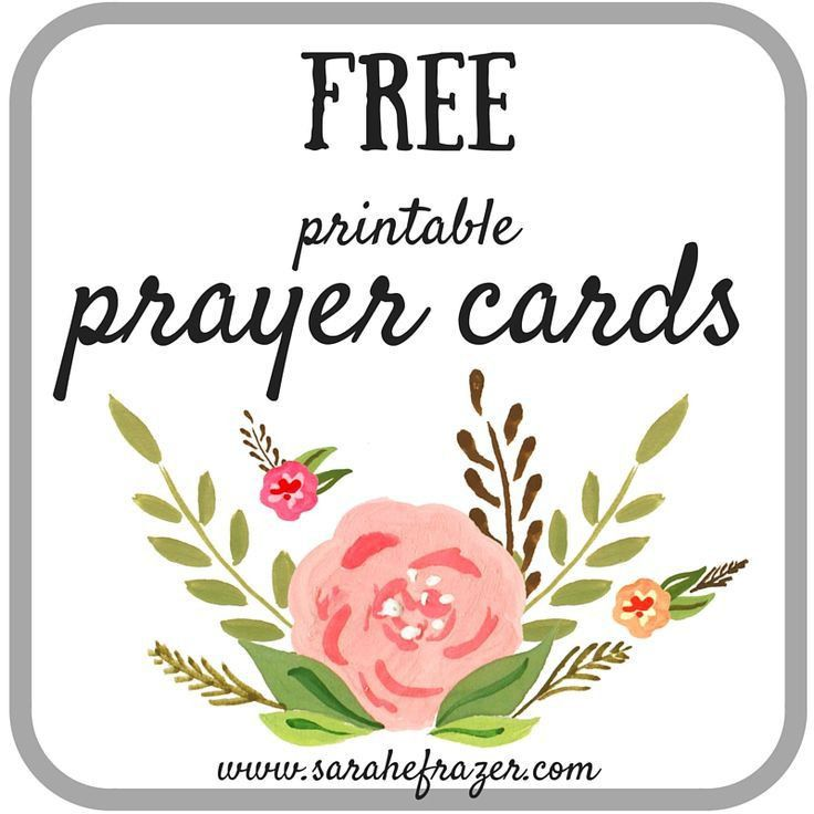 Printable Prayer Cards Issue 1 & #TuesTalk | Printable prayers ...