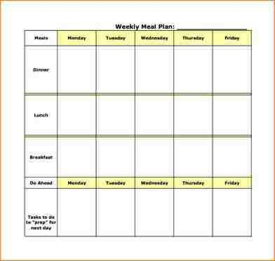 5+ weekly meal plan template | academic resume template