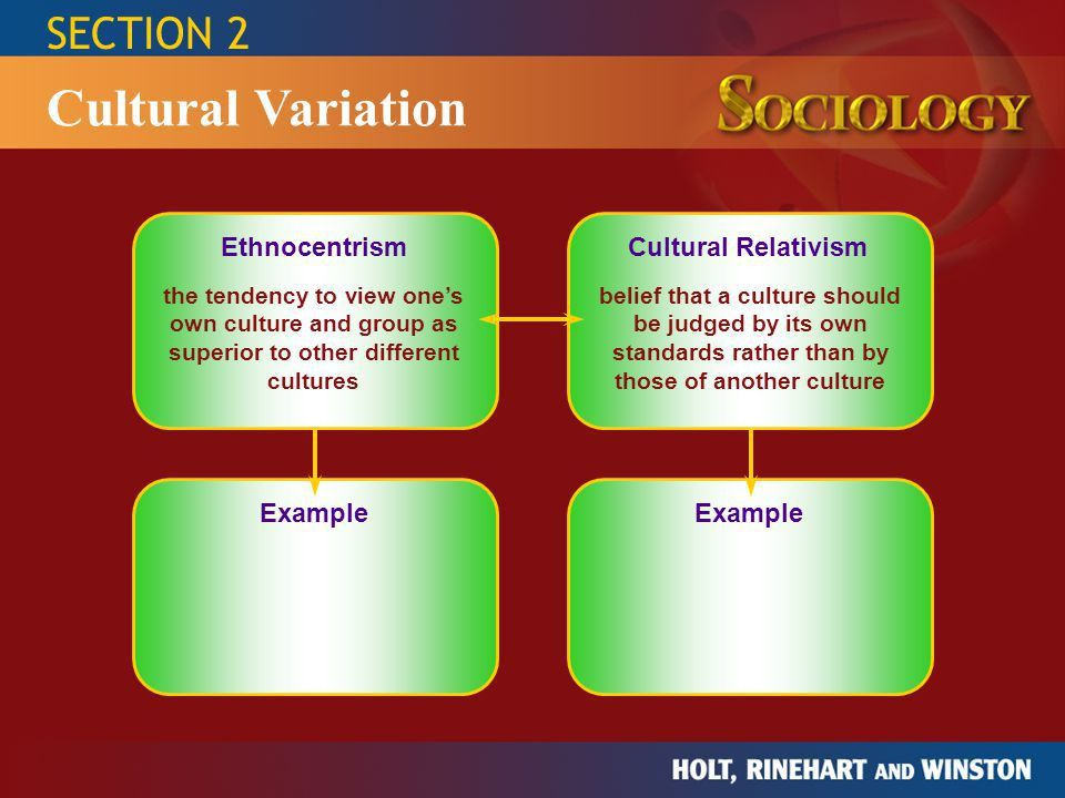 Section 1: The Meaning of Culture Section 2: Cultural Variation ...