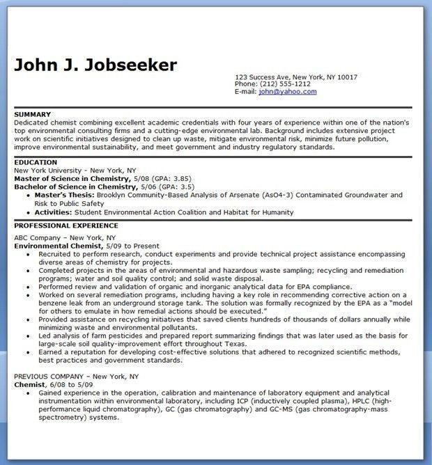 Download Chemist Resume | haadyaooverbayresort.com