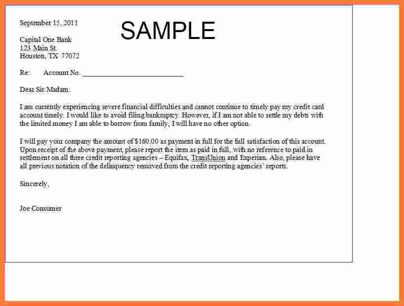 6+ debt settlement letter | Marital Settlements Information