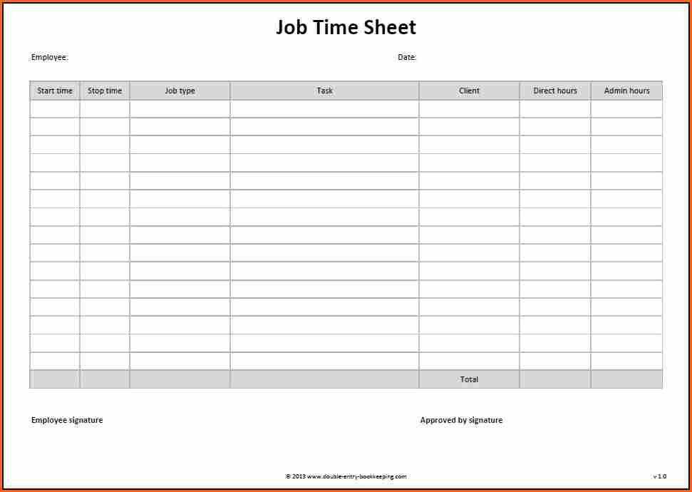 Timesheet Templates. Free Timesheet Templates Daily Timesheet ...