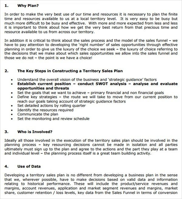 Sample Territory Plan Template - 8+ Free Documents in PDF, Word ...