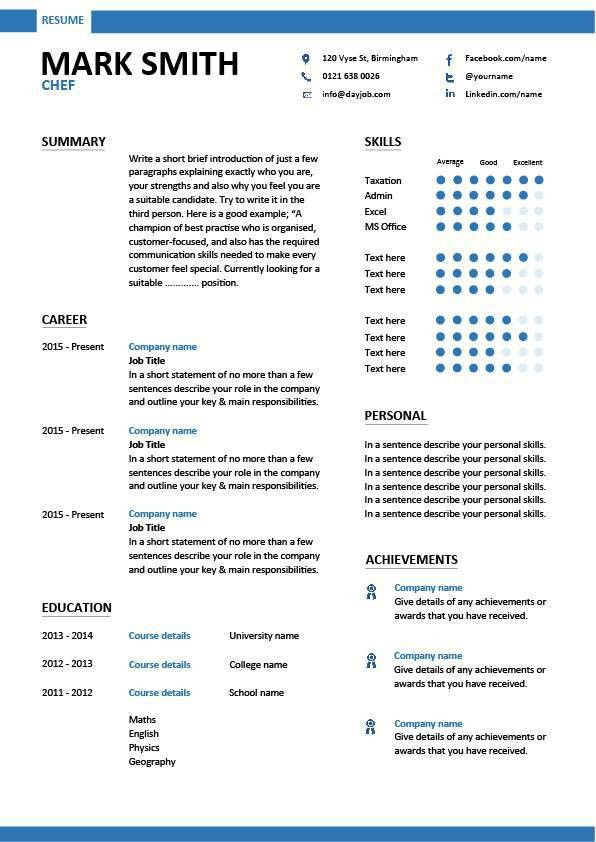 Culinary Resume Examples, resume sample of hotel and restaurant ...