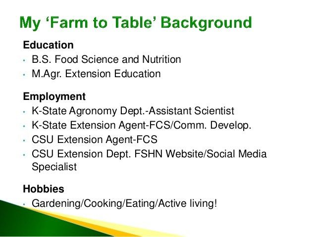 CSU Farm to Table Food Safety: Increasing Engagement with Target Audi…