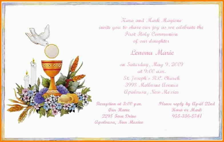 12+ first communion invitation templates | artist resume
